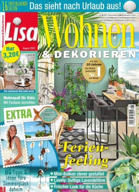 lisa wohnen dekorieren jahresabo zeitschrift lisa wohnen dekorieren aus der rubrik haus. Black Bedroom Furniture Sets. Home Design Ideas